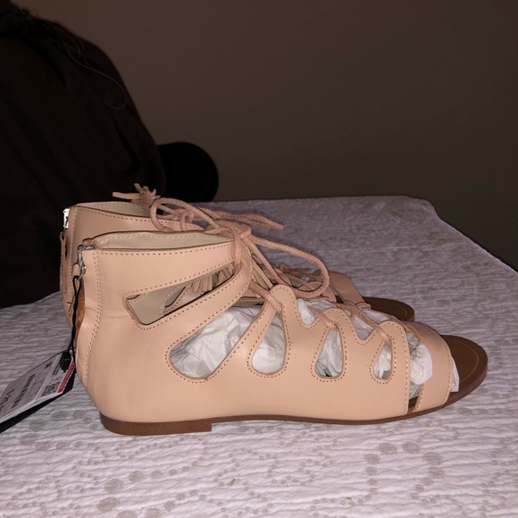New Zara greek style sandals sz 38
